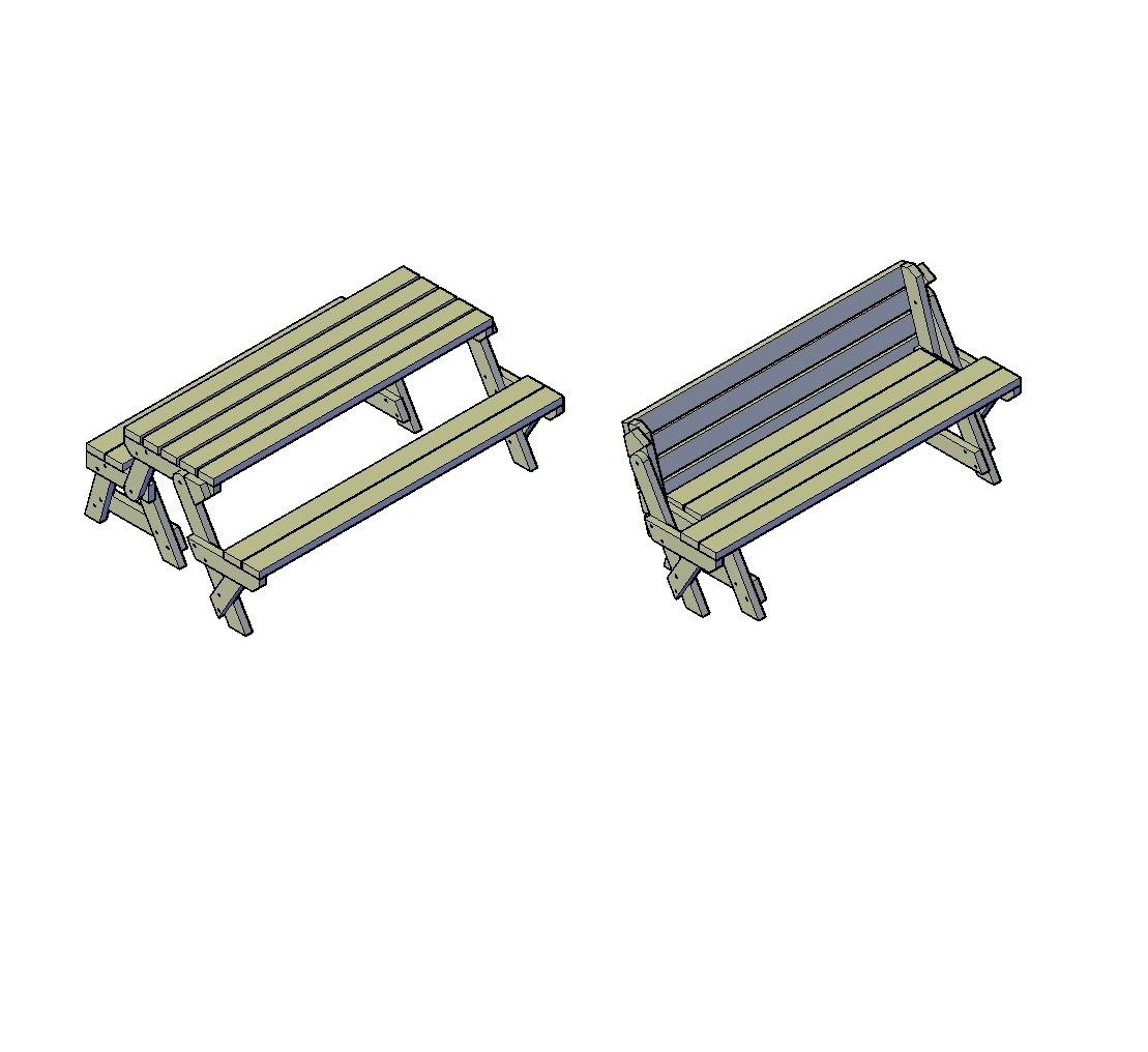Picknick Tisch bauplan