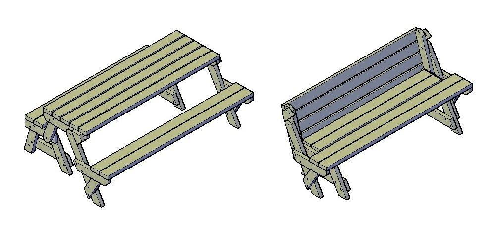 Suchst du einen Bauplan für einen Picknick Tisch? Dann bist du hier genau richtig!