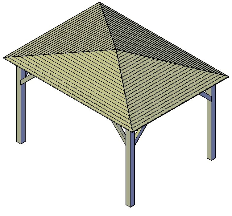 Carport Spitz dach