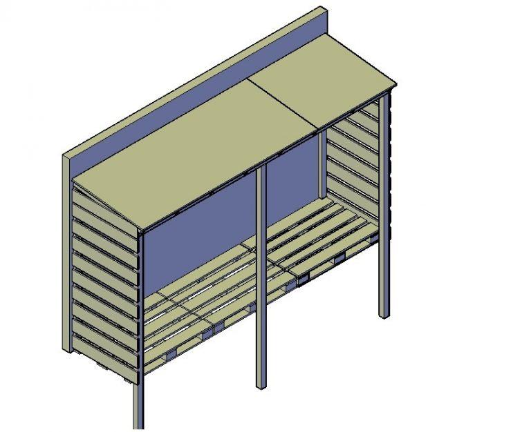 Einen Holzunterstand bauen