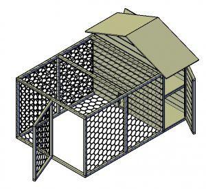Hühnerstall selber bauen mit Hühnerauslauf