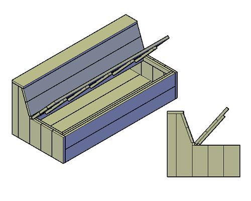 Holzbank bauen