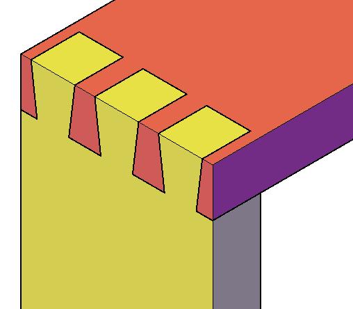 Die offene Schwalbenschwanzverbindung