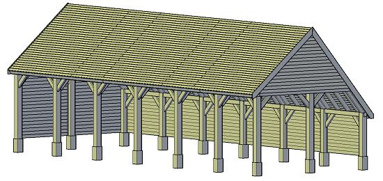 Gartenlaube bauen