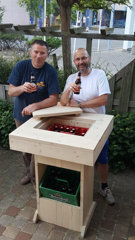 Bier Stehtisch selber bauen